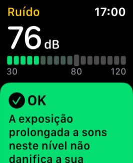 Detector de ruídos altos no watchOS 6