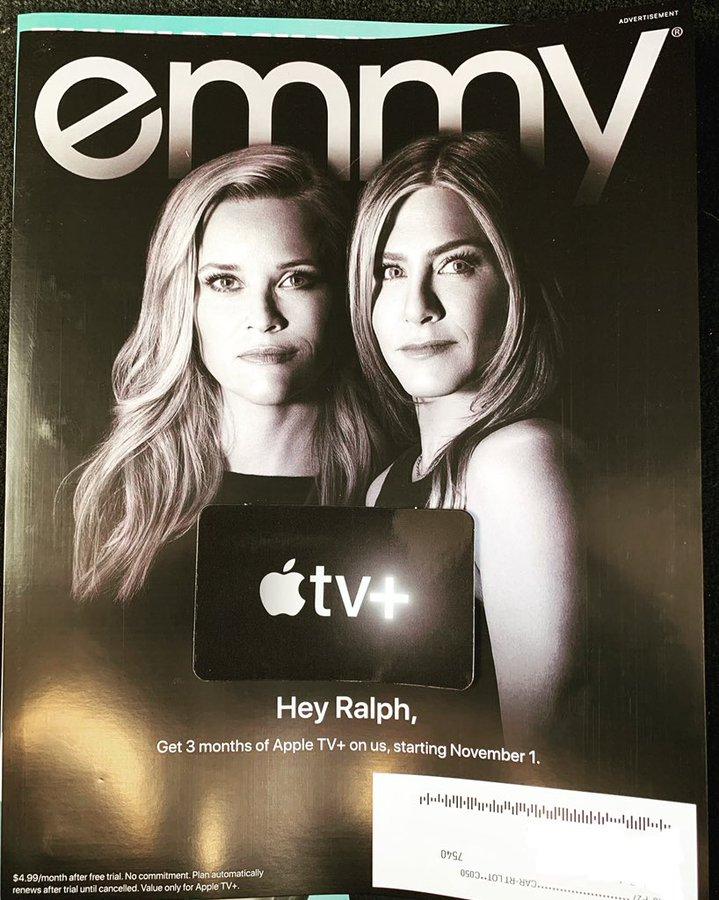 """Anúncio na Emmy Magazine destacando """"The Morning Show"""""""