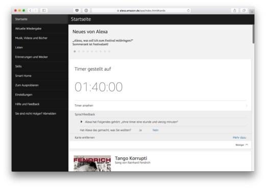 Alexa im Web