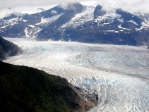 Approaching the Mendenhall Glacier