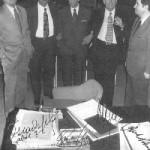 Uno de los jurados del Premio Óscar Esplà. De izquierda a derecha: Montsalvatge, Godofredo Petrassi, Esplà, André Jolivet y Antonio Iglesias (1972).