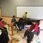 Dando clase en la Universidad EAFIT