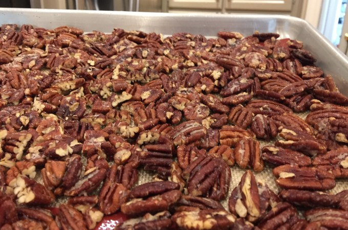 cooked pecans
