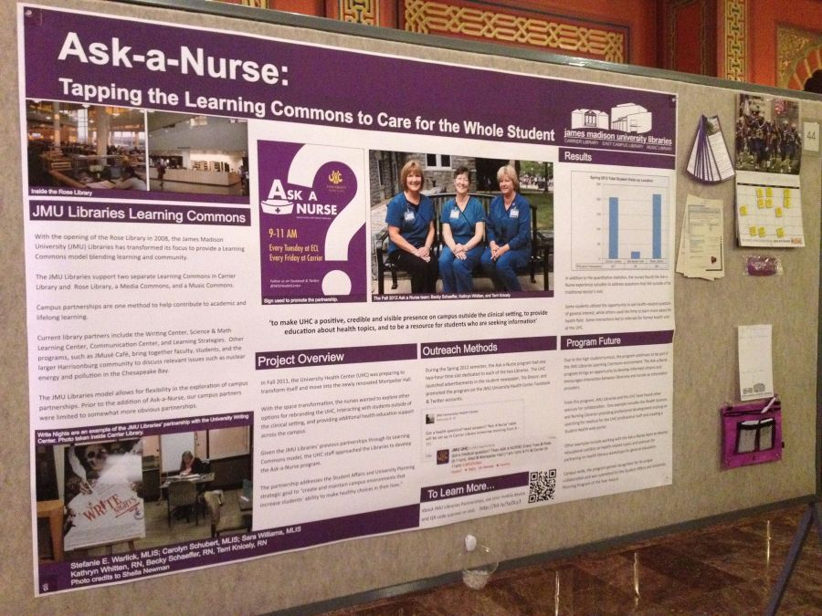 Ask a Nurse: Tapping the Learning Commons to Care for the Whole Student poster