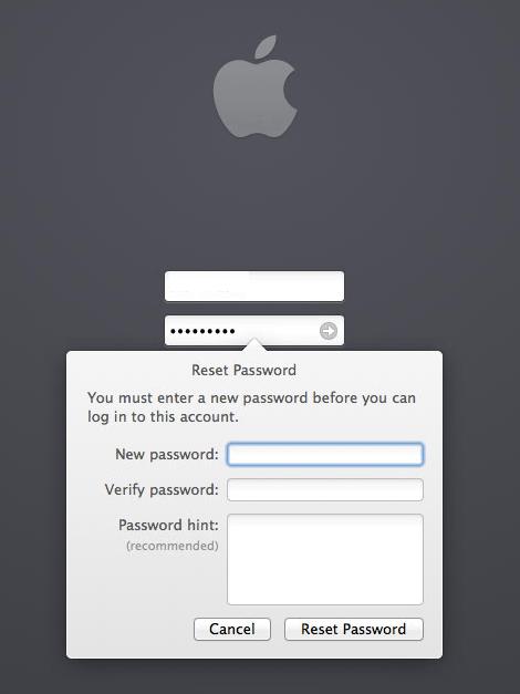10.9 Reset Password Prompt