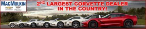 MacMulkin Chevrolet of Nashua, NH is the 2nd Largest Corvette Dealer in the Country!