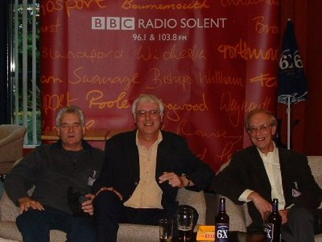 Larry at BBC Radio Solent days gone by