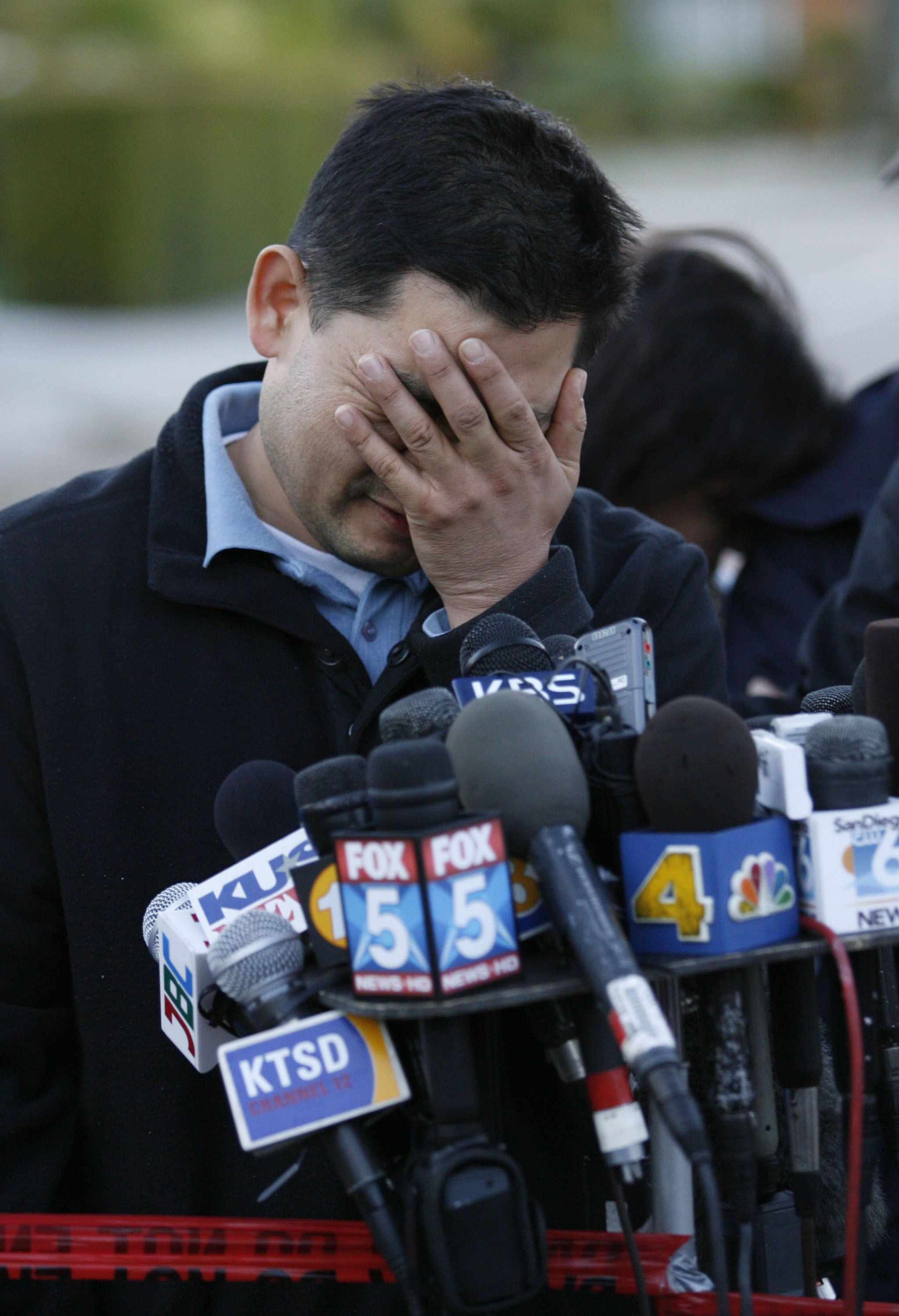 Dong Yun Yoon speaks after losing four family members when a military plane crashed into his house on Tuesday.