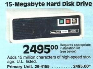 15 MB HDD für unglaubliche 2495 US-Dollar