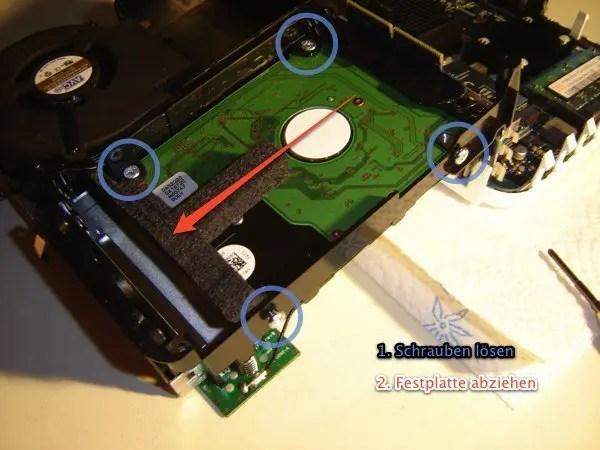 Mac mini - Festplatte entnehmen