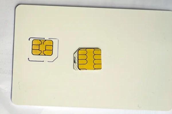 Micro-SIM zugeschnitten