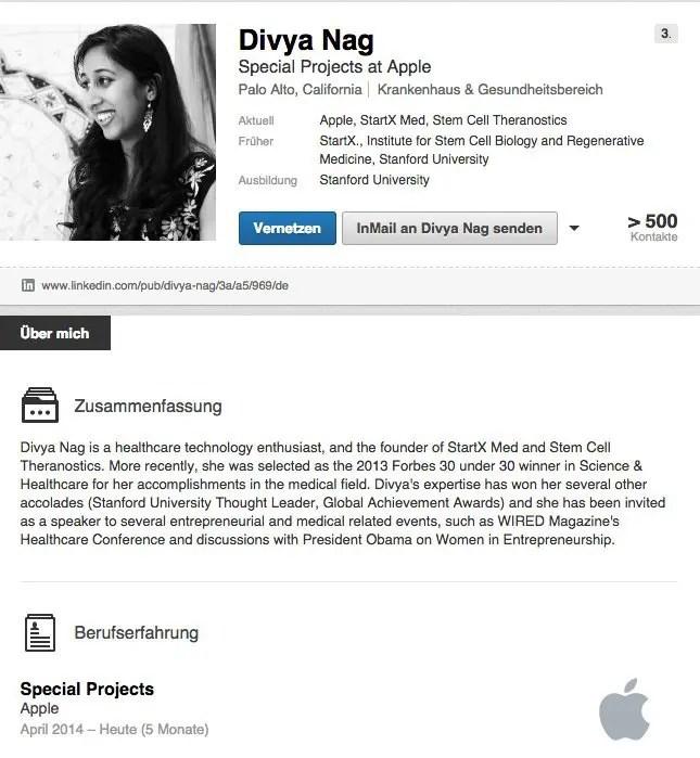 Divya Nag - LinkedIn-Profil