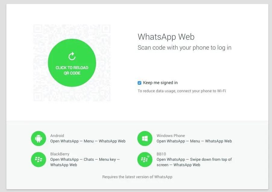 WhatsApp - Web-App QR-Code Autorisierung