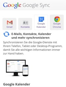 Google Sync - Screenshot