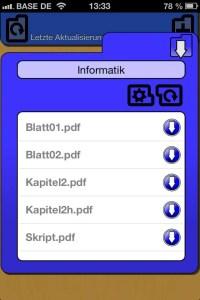 CourseMate Dokument-Übersicht Informatik