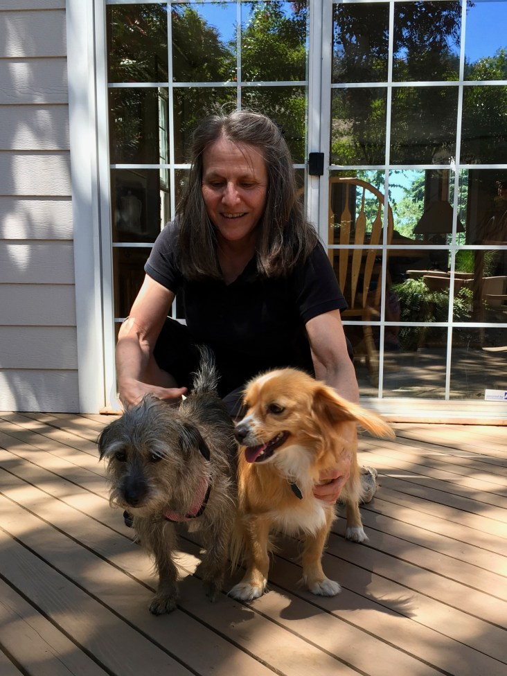 Stephanie, with Lucy and Toby