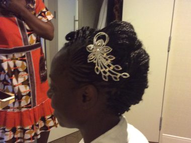 Tresses for wedding occasion