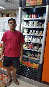 Quickshop owner Sam Patel