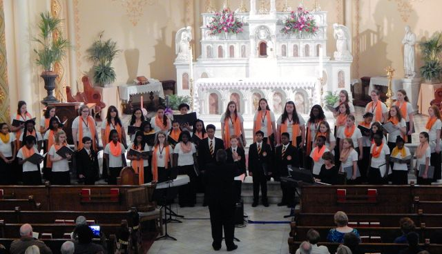 Mercer University Youth Choir Perfomance Church