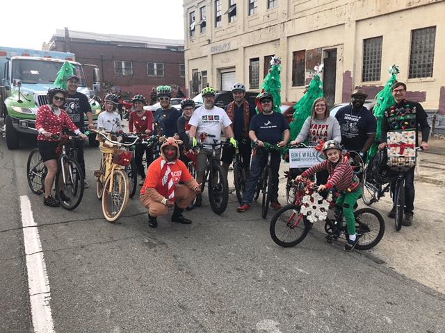 Bike Walk Macon in Macon Christmas Parade