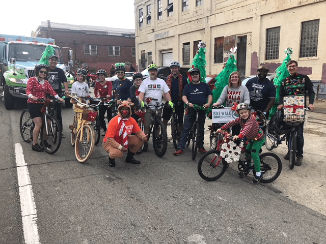Bike Walk Macon in Macon Christmas Parade