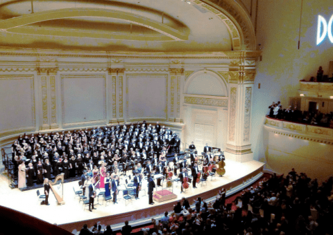 Choral Society performing at Carnegie Hall