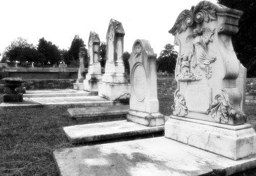 Rose Hill BW Tombstones