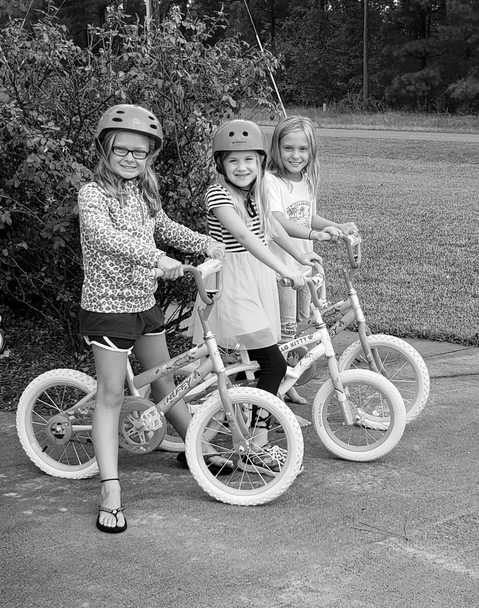 Bicyling Macon Young Girls