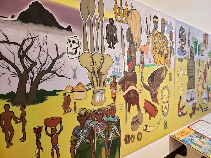 Web - African American history through the years mural