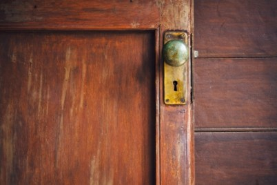 old door with knob
