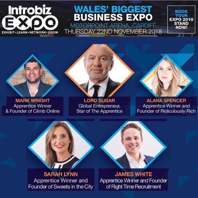 Had a great day so far listening to and meeting so many great business people at #IntrobizExpo including #LordSugar and @mark_e_wright !