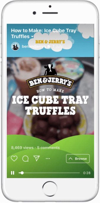 Ben and Jerry's IGTV video