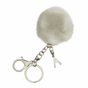 Midnight Luxe Initial Pom Pom Key Ring