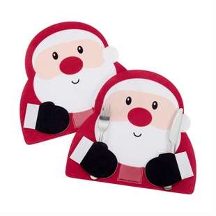 Set of 2 Santa Placemats