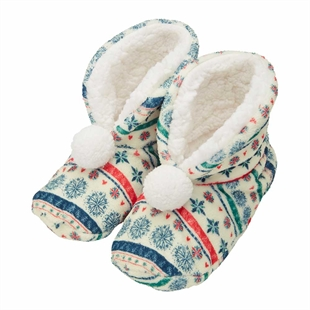 Nordic Noel Slipper Sock Boots