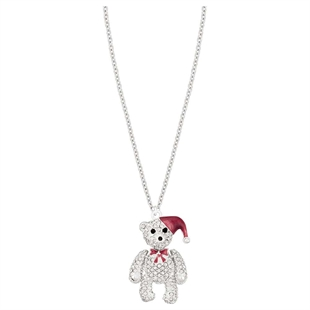 Noel Christmas Bear Necklace