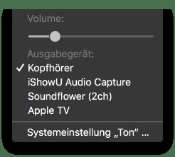 Audio-Ausgabequelle