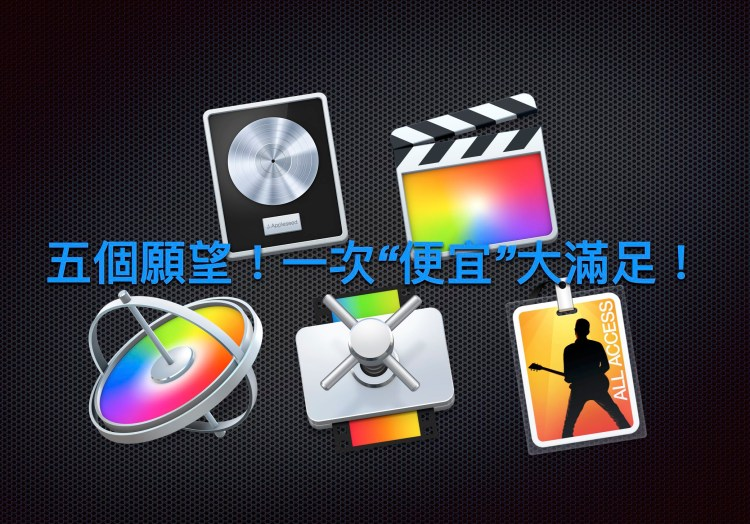 Mac App 專業軟體五合一套餐,帶著你如何購買一次完成!