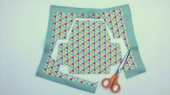 Découpez le tissu