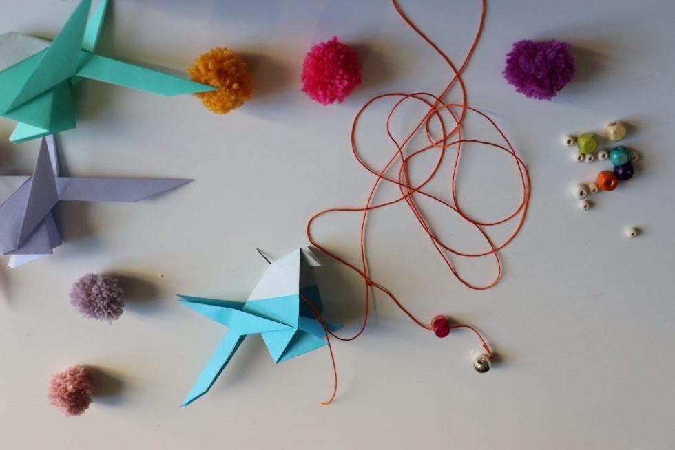 Assemblage de la guirlande origami