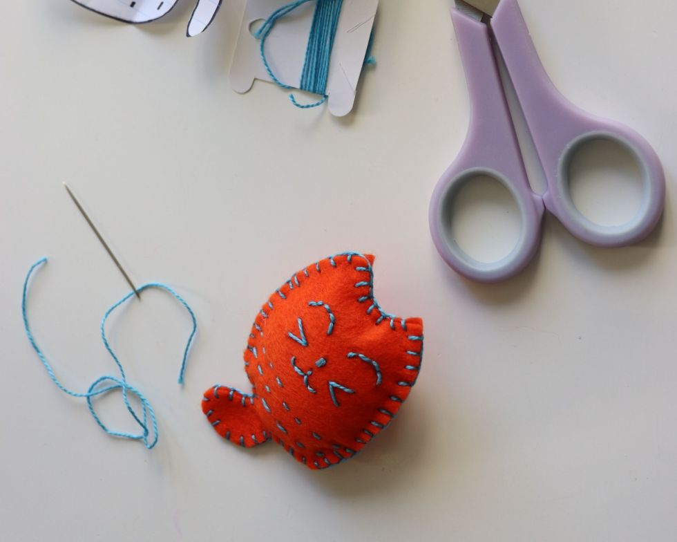 Tutoriel broche brodée chat
