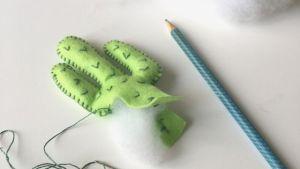 Tutoriel DIY, faire un cactus en feutrine brodée