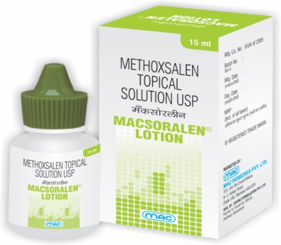 Macsoralen lotion methoxsalen
