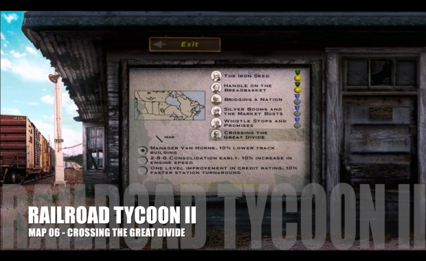 Railroad Tycoon II – Map 06 – Crossing the Great Divide