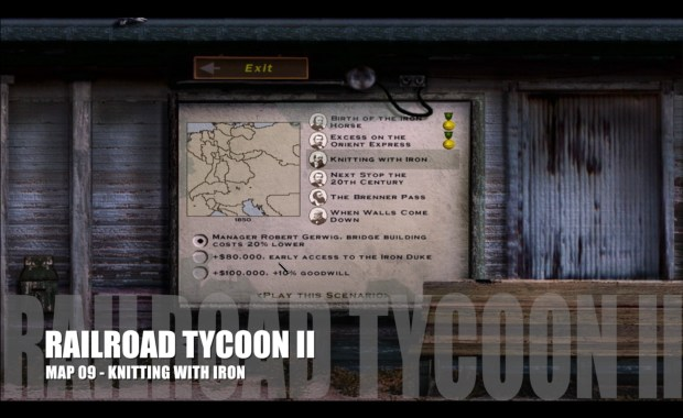 Railroad Tycoon II – Map 09 – Knitting with Iron