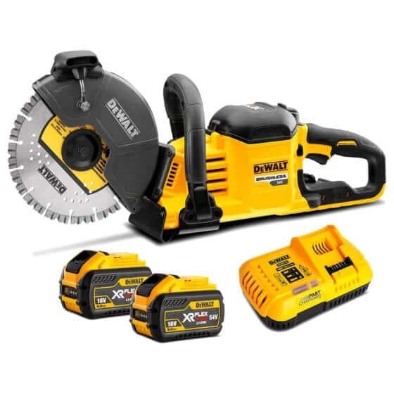 dewalt dcs690x2 54 volt brushless con saw kit