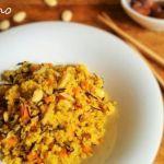 Paella dulce de quinoa