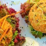 Hamburguesa vegana de arroz y tofu
