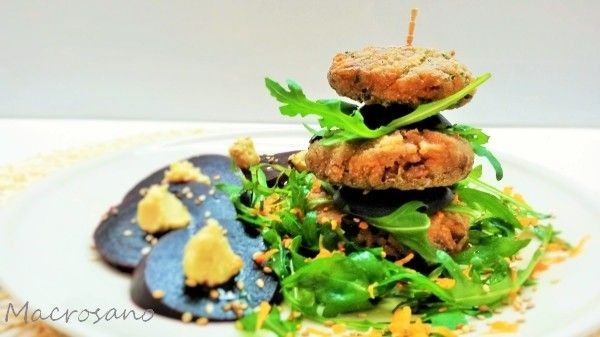 Hamburguesas veganas de arroz y alubia roja