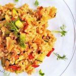Salteado rápido de arroz con hinojo
